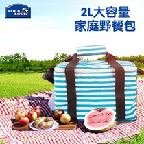 Korean music buckle music buckle outdoor portable picnic bag fast food insulation package large capacity thickened portable waterproof lunch bag