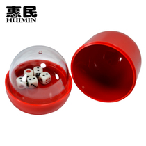 Bar supplies with transparent cover double tray dice cup sieve Cup color with 5 dice 6