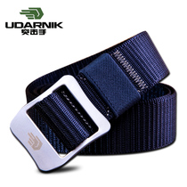 Assault hand outdoor Army Fan Day word buckle solid color nylon tactical belt Mens sports casual belt