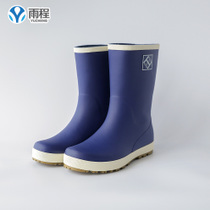 Rain Cheng men in the tube water shoes rain boots waterproof non-slip rubber shoes spring and autumn rubber shoes shoes single shoes fishing shoes fashion