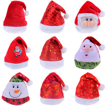 Lin Fang 32G Christmas supplies gold velvet thick plush side Christmas hat Santa hat
