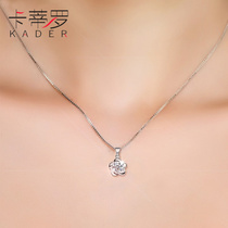 Cartier Luo 925 sterling silver necklace female Japanese and Korean version of the pendant jewelry clavicle Sen temperament inlay Swarovski zirconium
