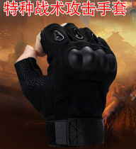 2015 upgraded version of special forces tactical gloves half finger outdoor combat combat army fan Black Hawk winter training male anti-cutting.