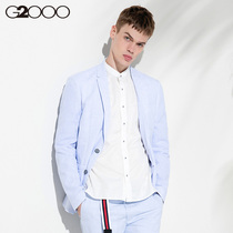 G2000 casual cotton striped mens suit jacket summer youth leisure trend mens decoration body suit