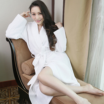 Xin Mei Shu cotton towel bathrobe male and female couples cotton robe hotel thickened absorbent bathrobe quick-drying winter