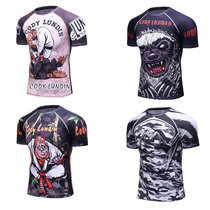 MMA fight fighting T-shirt boxing Muay Thai UFC training sports fitness short-sleeved running basketball quick-drying sportswear