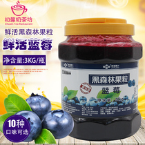 Fresh Black Forest blueberry sauce 3kg concentrated beverage sauce blueberry fruit jam sundae sand ice jam blue plum sauce