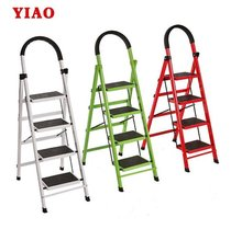 Home folding ladder person word ladder indoor installation thickened four-step ladder non-slip multi-functional mobile stairwell.
