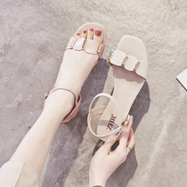 ZHR2019 summer new sandals shoes with skirt fashion rough with wild gentle with high heel chic shoes