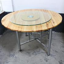 Solid wood round table restaurant farmhouse banquet table restaurant table reception FIR table dinner party one meter