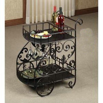 European-style iron wheel dining car wine rack wine rack rack hotel dedicated hand-push dining car drinks catering car