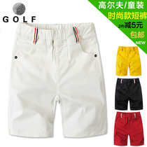 Golf childrens clothing sports jersey spring and summer cotton small children and young childrens jersey shorts