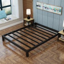 Wrought iron bed burning Kang simple modern iron bed staff dormitory single bed rental room bed bed 1 5 custom