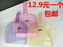 Thickening transparent mini dustpan household hand-held small child single plastic garbage shovel dustpan dustpan dustpan