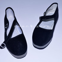 Smart dance shoes mother-in-law shoes cloth shoes folk dance shoes folk dance shoes foam velvet flat shoes