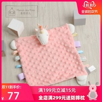French bean label pacifying towel newborn baby appease doll baby can bite the mouth can accompany sleeping Bean towel