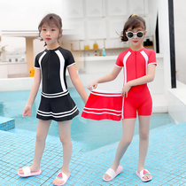 Childrens swimsuit in the big girl girl one-piece skirt girl 6-8-12-15 years old student professional ins wind swimsuit