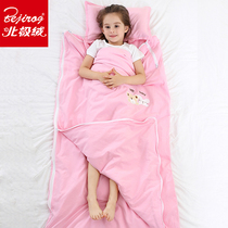 Arctic velvet childrens sleeping bag baby spring and Autumn Winter cotton baby anti-kick was thin section of large children in primary school
