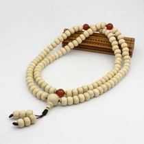Wutaishan specialty six wood Buddha beads drop dragon beads Buddha beads hand string holding 108 original wood color.