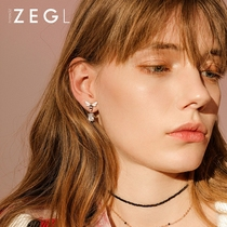 ZENGLIU Little Bee Earrings Earring Girl Ear Clip Korean temperament tide human ear pendant elf Earrings