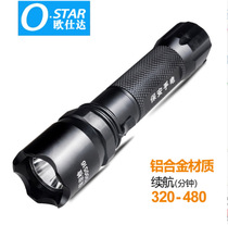 LED bright light flashlight charging import CREE flashlight charging security equipment.