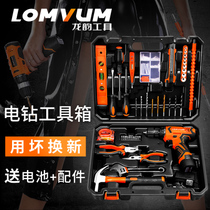 Dragon rhyme daily household hardware tools hand drill set Daquan carpentry repair combination full toolbox set
