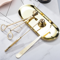 菓 Kai Scented Candle Special Candle-Killing Tool Candle-Cut Candle Hook Metal Tray Candle Cover Smart Cover Set