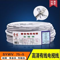 Home improvement HD cable TV cable closed-circuit signal line cuivre coaxial set-top box line satellite line 75-5