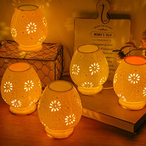 Aromatherapy lamp ceramic plug-in light essential oil lamp bedroom aromatherapy beauty salon