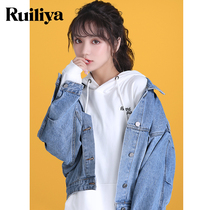 Denim jacket female loose Korean version of bf spring and autumn in early 2019 new network red short shirt womens tide ins