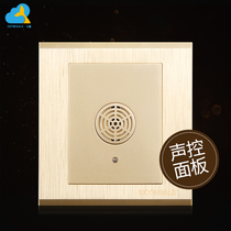 Flying Whale 86 Wall voice control switch panel Intelligent induction single open socket set champagne gold dark home furnishings