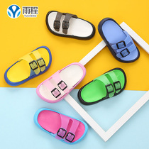 Double buckle childrens sandals 1-3-6 childrens childrens simple bathroom slippers girls sandals sandals non-slip male