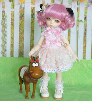 sd doll 1 6bjd doll clothes 1 6bjd female doll dress six BB female doll pink dress set
