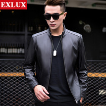 Haining leather leather mens Korean slim handsome sheep leather jacket men spring and autumn motorcycle jacket 2019 New