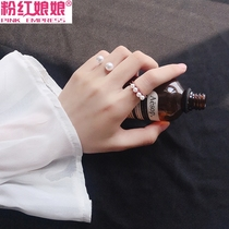 Net red personality open tail ring simple student joint ring female minority design index finger ring fashion personality ring