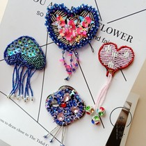 Fashion cloth DIY hand sewing beaded sequins tassel Rhinestone clothing accessories love shoes flower chest decorations