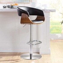 You dream stainless steel bar chair lift stool modern simple sales front desk chair Light Luxury bar chair chair