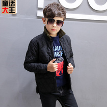 Boys winter coat childrens thin 2018 New childrens winter coat cotton winter Korean childrens clothing jacket