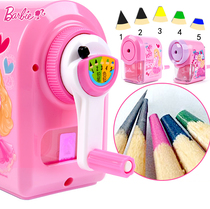 Childrens sharpener hand Barbie primary school color pencil sharpener cartoon planer pen machine does not pinch pencil sharpener cute