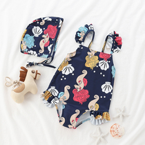 Childrens swimsuit girls childrens Siamese cute ins little princess skirt swimsuit baby baby quick-drying bathing suit
