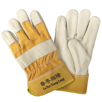 Lu yueoxiang long export dedicated first layer of leather welding gloves welder gloves durable welding gloves