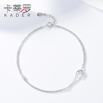 Sterling silver anklet female Korean version of the simple student 520 gift Sen Department niche design antique sexy ankle chain personality