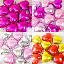 Heart-shaped aluminum balloon decoration Wedding Room wedding supplies love balloon romantic lover confession balloons