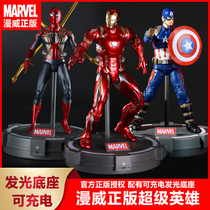In the action Avengers Alliance 4 Marvel Heroes Childrens toys hand model Iron Man Captain America doll