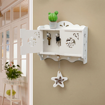 Creative wall rack free punch-free hook ornaments decorate the living room secret wall hanging key collection box finishing box