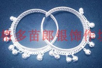 Adult children bracelet adjustable size opening bracelet Miao silver stage show with a pair
