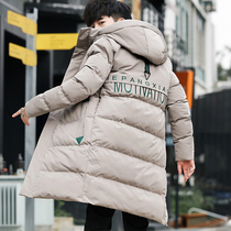 Winter coat Male Korean version of the trend in the long cotton clothes 2018 new handsome cotton jacket winter clothing coat down cotton clothes