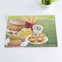 Disposable dinner plate laminating paper customized burger meal paper baking tray oil proof wrapping paper