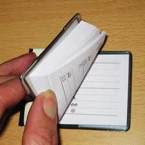 Phone number record This thin portable address book convenient to write notepad number book contact book