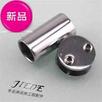 Shower room bathroom accessories glass B glass partition connector shower curtain rod fixed head pull rod head clip 19 single-pass